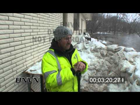 3/26/2009 Moorhead, MN Flooding - Part 2 Stock Video