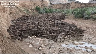 MONSTER flash flood, debris flow in Johnson Canyon, Utah on July 16, 2018!
