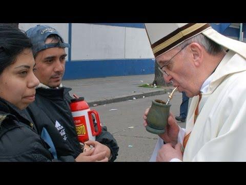 Papież Franciszek Jorge Bergoglio Pije Yerba Mate. Czajnikowy.pl video
