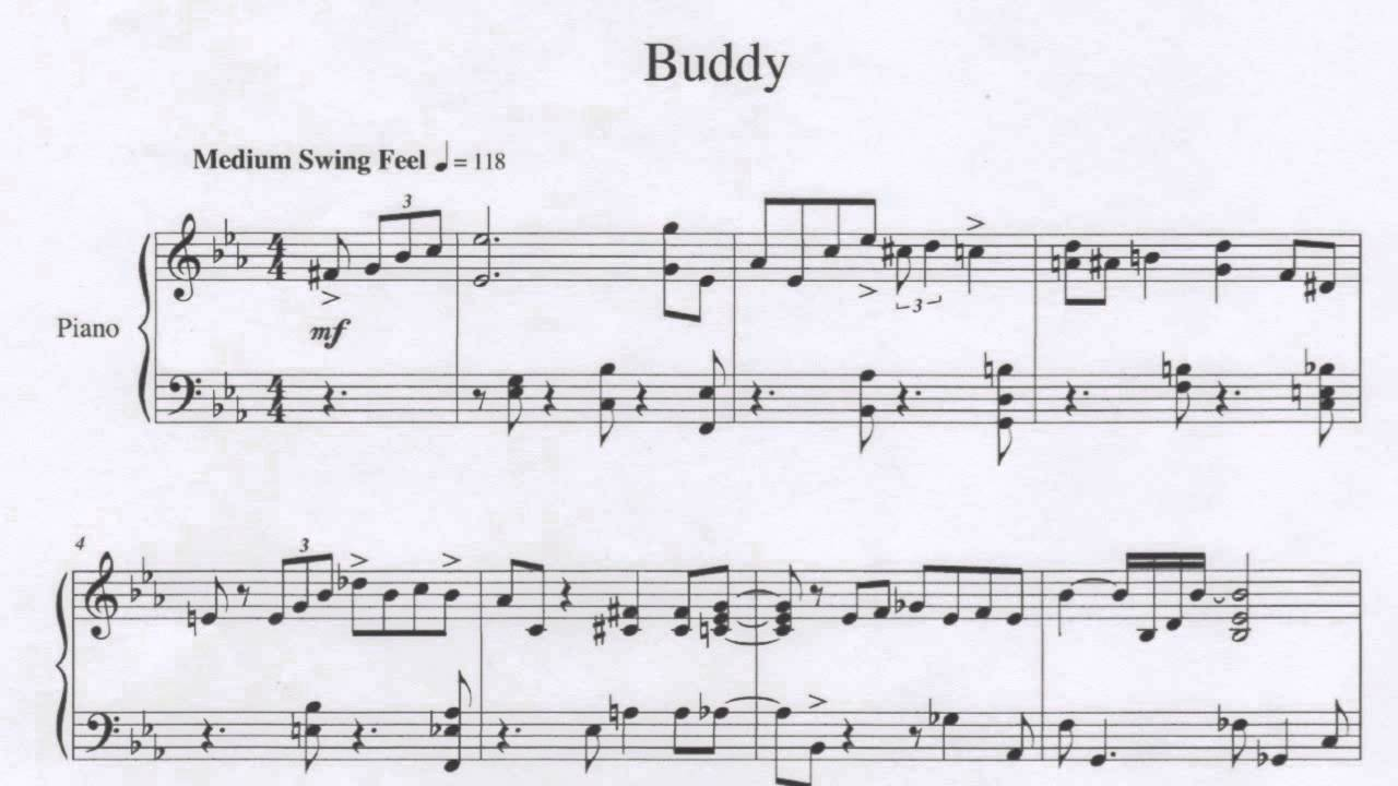 "Sheet Music for ""Buddy"" - YouTube"