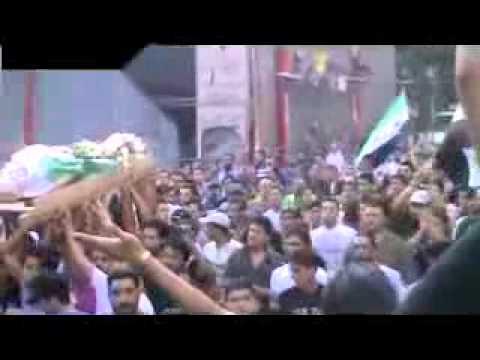 شام ريف دمشق زملكا لحظة وقوع الانفجار بين المشييعن