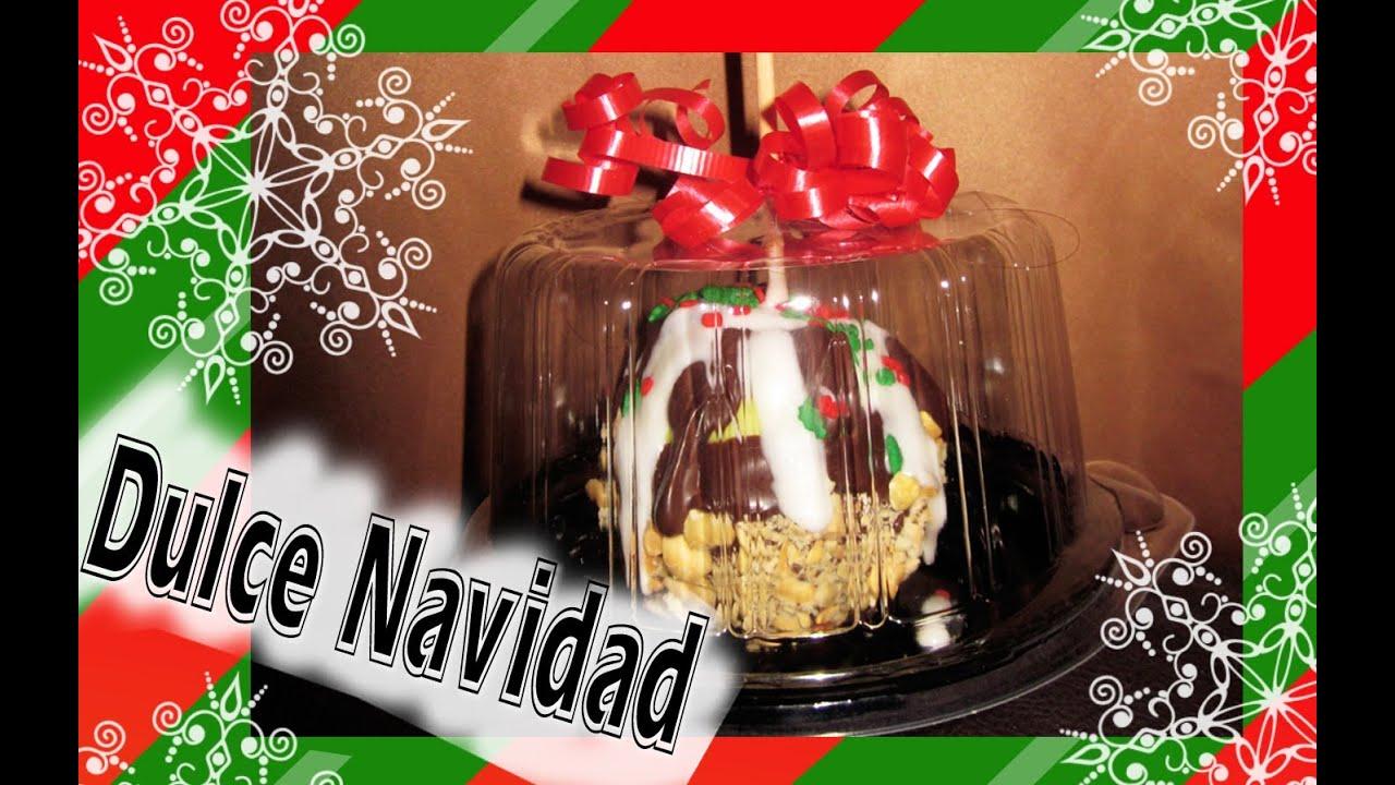 Haz manzanas con cobertura de chocolate para regalar en for Adornos navidenos para regalar