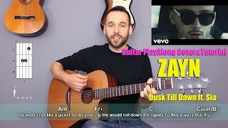Download Lagu ZAYN - Dusk Till Dawn ft. Sia (guitar cover with lyrics and chords) Gratis STAFABAND