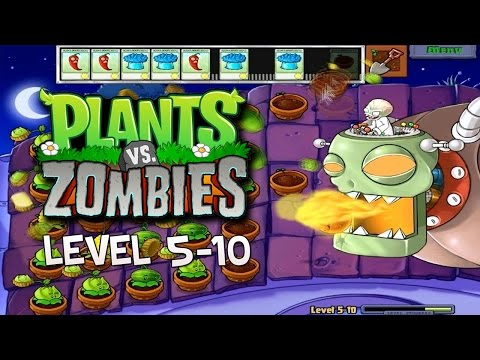 Plants Vs Zombies - Walkthrough: 5-10 [FINAL BOSS]