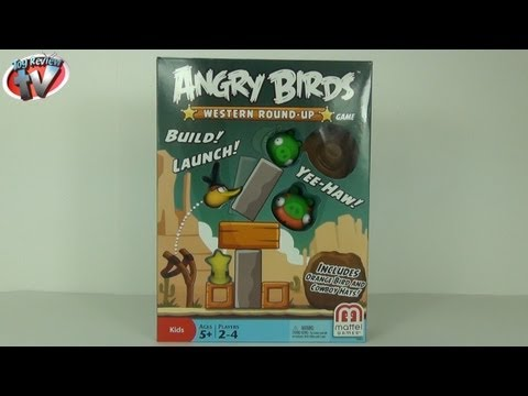 Angry Birds Western Round-Up Game Toy Review. Mattel