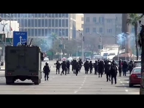 Protesters clash with police in Egypt - no comment