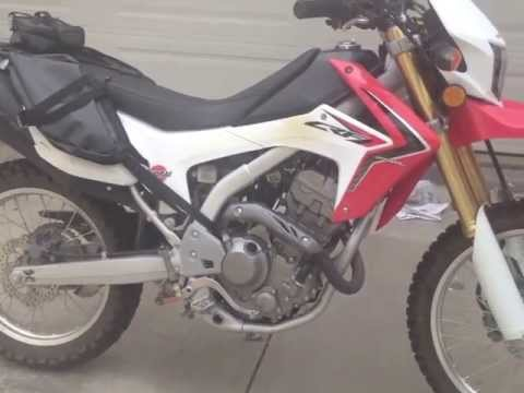 Honda CRF250L Mods; sprocket. seat. saddlebags. tail light...