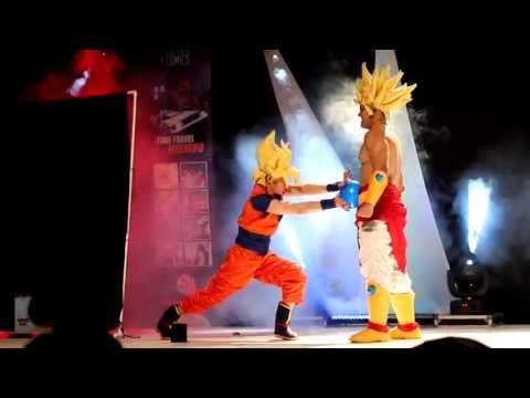 Cjmc 42 Ganadores De Cosplay Grupal Dragon Ball Z : Goku Vs Broly video