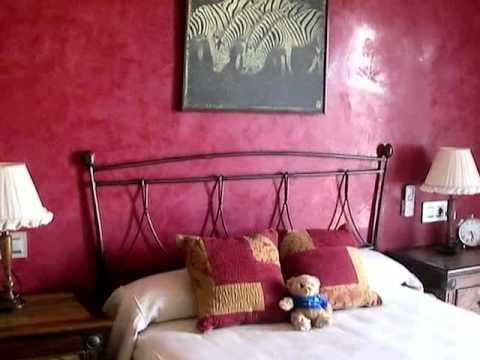 Pared frontal de habitacion con estuco veneciano color - Habitaciones color naranja ...