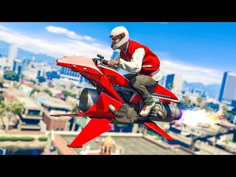 NEW HOVERBIKE VEHICLE! *OPPRESSOR MK2* - (GTA 5 DLC Stunts & Fails)
