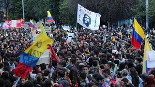 ||LIVE Colombia || Colombians protest in Bogota after failed Duke dialogue