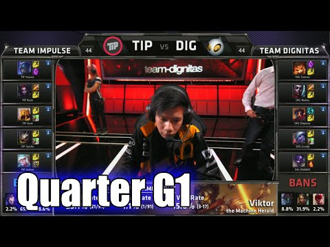Team Impulse vs Dignitas | Game 1 Quarter Finals S5 NA LCS Summer 2015 Playoffs | TIP vs DIG G1 QF