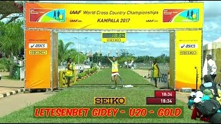 Letesenbet Gidey, ETH - Gold - Women, U20 - Kampala, UGA - XC World Champs - March 26, 2017