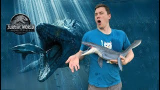 "UNBOXING ""Real Feel"" Mosasaurus from Jurassic World Fallen Kingdom by MATTEL"