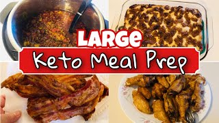 Large Keto Meal Prep / Batch Cooking | Easy Breakfast, Lunch, Dinner Recipes | 7/9/20