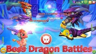 All BOSS Dragon Battles part 2 - Dragon Mania Legends