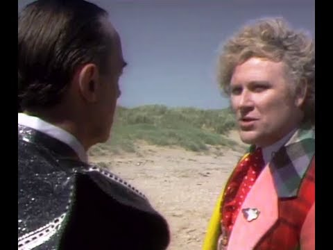 The Doctor fights the Valeyard in the Matrix