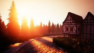 10 hours | Medieval City Ambience | Backround Sounds | ASMR, Study, Fairytale