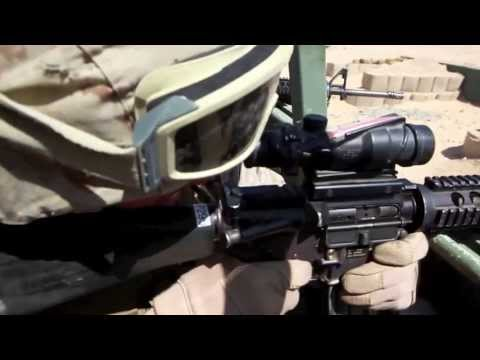 POV Footage of Marines During Combat Shooting Exercise - Marines Engage Targets From Vehicle