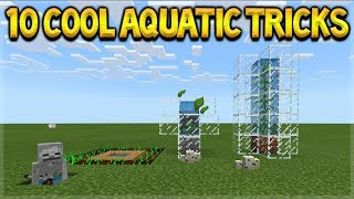 Minecraft AQUATIC UPDATE - 10 Cool Things You Possibly Didn't Know In Minecraft Aquatic Update