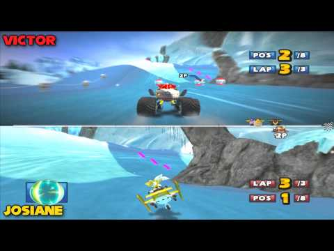 Sonic & Sega All-Stars Racing - Split Screen