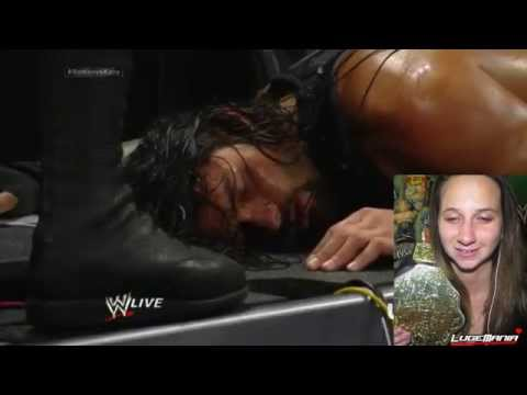 WWE Raw 7 28 14 Randy Orton Vicious attack on Roman Reigns Live Commentary