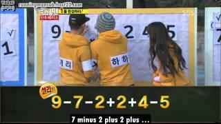 [Eng Sub] Running Man Ep.75 120101 Math Race (6/6)