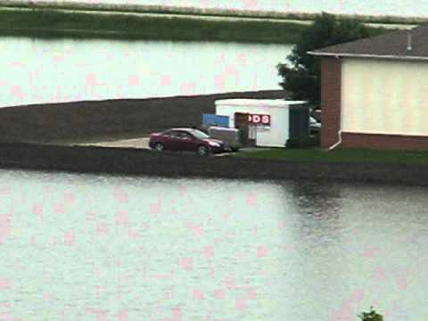 Blair, Nebraska - Ridgeview Park view of Missouri River Flood 6/14/2011 (Zoomed)