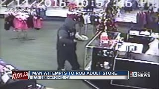 Employees uses sex toys to fight off a would-be robber