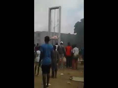 Cote d Ivoire /Destruction de la CIE  de bouake en image.