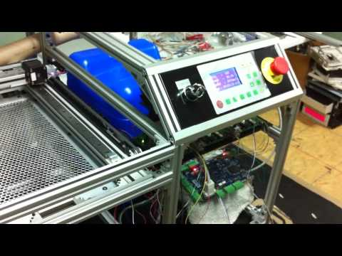 CNC Homemade CO2 Laser cutter early test