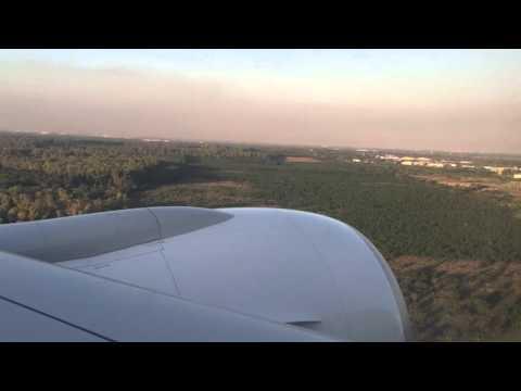 EK247 Emirates Business Class landing GIG-EZE