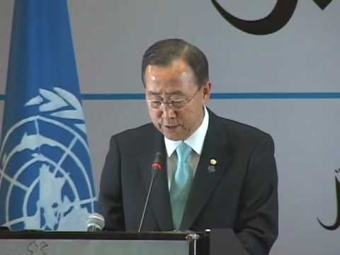 Karzai and Ban Ki-moon press conference VOA-Pashto