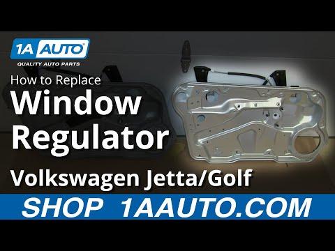 How To Install Replace Front Window Regulator 1999-06 VW Volkwagen Jetta Golf