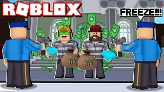 CRAZY BANK HEIST OBBY in ROBLOX! TRYING TO ROB 1,000,000 DOLLARS!