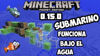 Submarino sorprendente Minecraft pocket edition 0.15.0 tutorial nucleo de redstone y mas!
