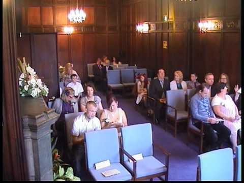 wedding ceremony part 1 at the registry office in dudley
