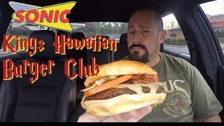 Sonic New Kings Hawaiian Burger Club Review : Food Review - mukbang