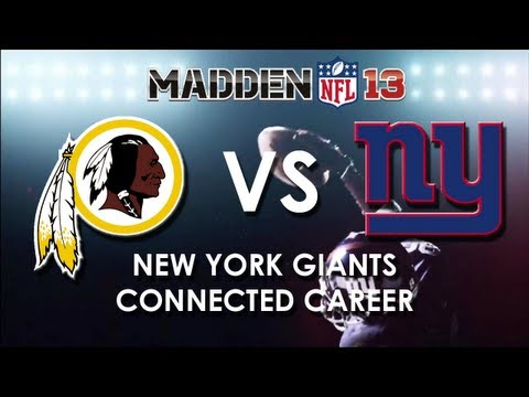 Madden 13: Washington Redskins vs. New York Giants