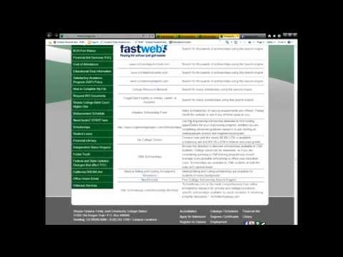 Shasta College Financial Aid Office: Scholarship Video