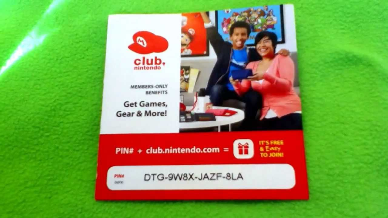 Club Nintendo Pin Codes