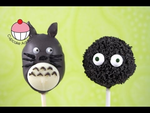 Totoro Cake Pops - Make Totoro & Soot Sprite Cakepops - A Cupcake Addiction How To Tutorial