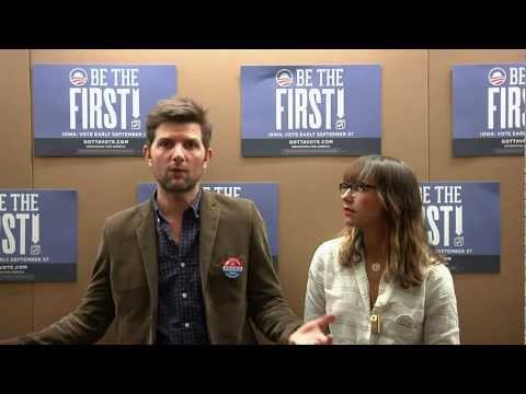 Adam Scott and Rashida Jones: Be the First to Vote in Iowa - Early Voting Begins Sept. 27