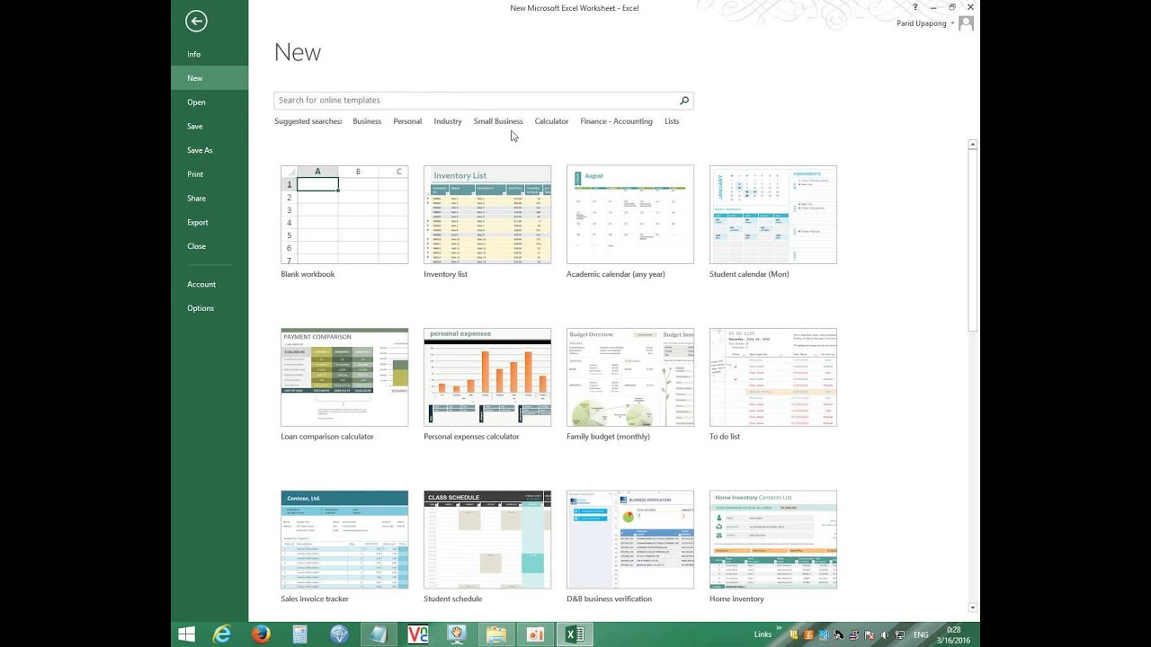 Excel Workbook Templates