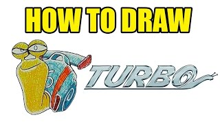 How To Draw Turbo The Snail