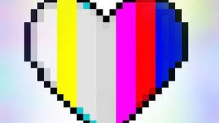 Rengarenk kalp çizimi