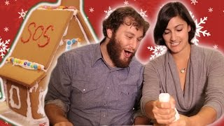 Tipsy Couples Build Gingerbread Houses