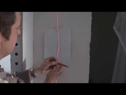 Видео как лазерным уровнем проверить ровность стены