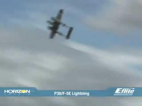 E Flite P-38F5E Lightning EP ARF Warbird