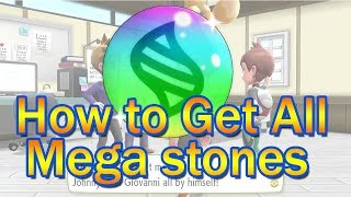 How To Get All Mega Stones -  Pokémon: Let's Go, Pikachu! & Eevee